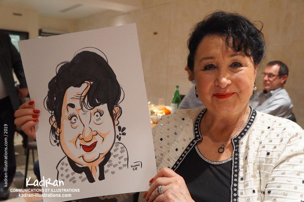 Animation caricatures traditionnells au restaurant pour votre entreprise.