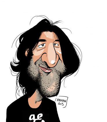 Caricature de David Duque