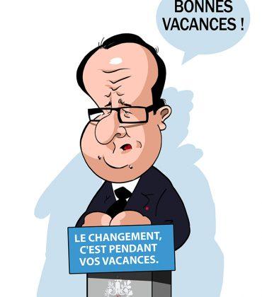 Le changement… c'est pendant vos vacances ! (François Hollande)