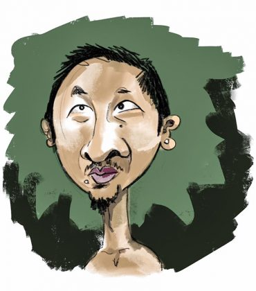 Vincent Kheng caricature The Island 2016