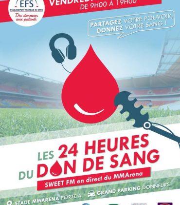 24 Heures du don de sang au Mans
