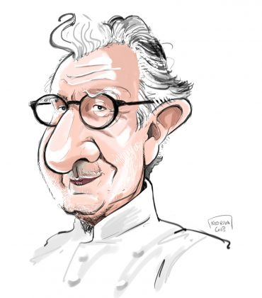Alain Ducasse caricature sketch