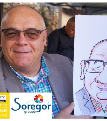 Animation caricatures par Soregor groupe au Happy Business