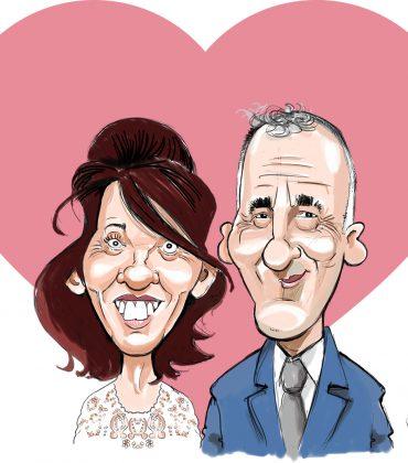 Animation caricatures pour le mariage de Nadège et Laurent (dept 35)