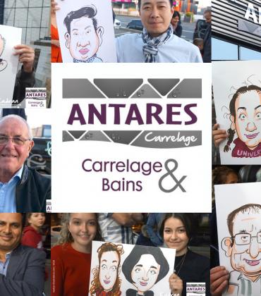 Animation caricatures soirée Antarès Carrelage