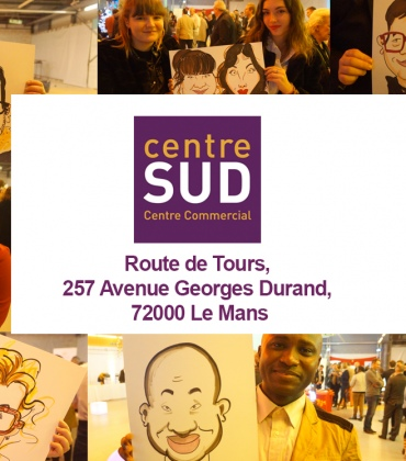 Animation caricatures Happy Business avec le Centre SUD