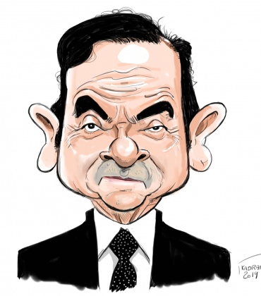 Carlos Ghosn caricature