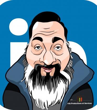 Avatar Linkedin en caricature